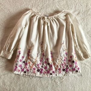 Baby Gap Floral Embroidered Top